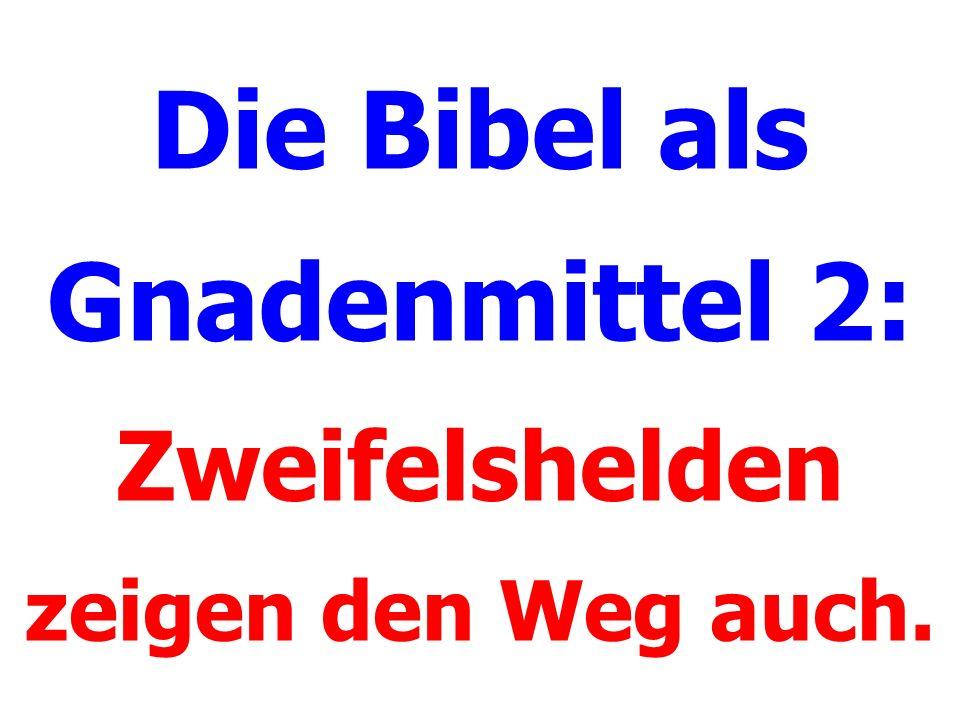 Die Bibel als Gnadenmittel 2: Zweifelshelden zeigen den Weg auch.