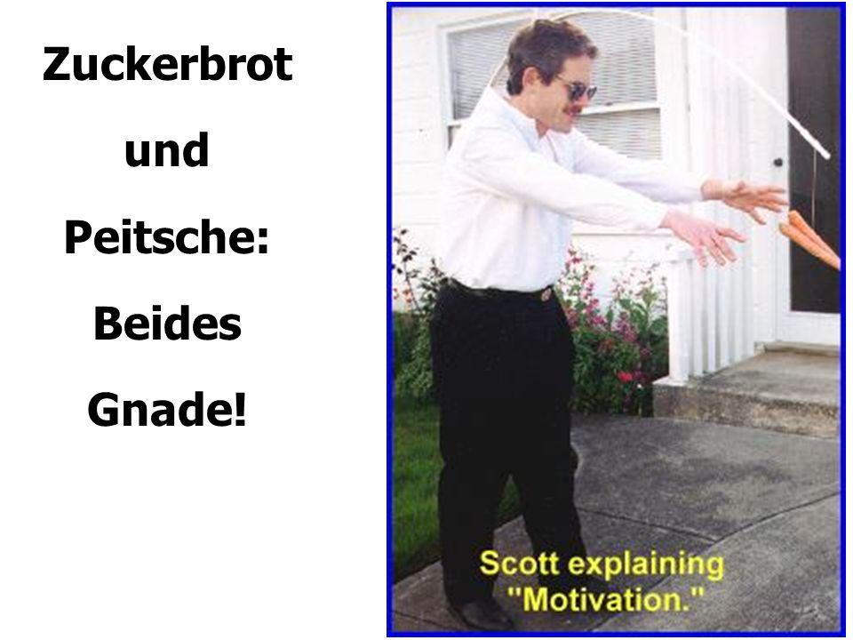 Zuckerbrot und Peitsche: Beides Gnade!