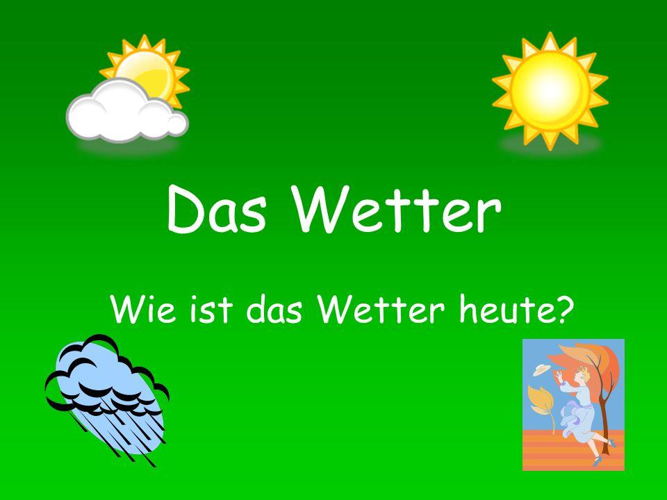Wie ist das Wetter heute? Es ist schwϋl.. die Feuchtigkeit