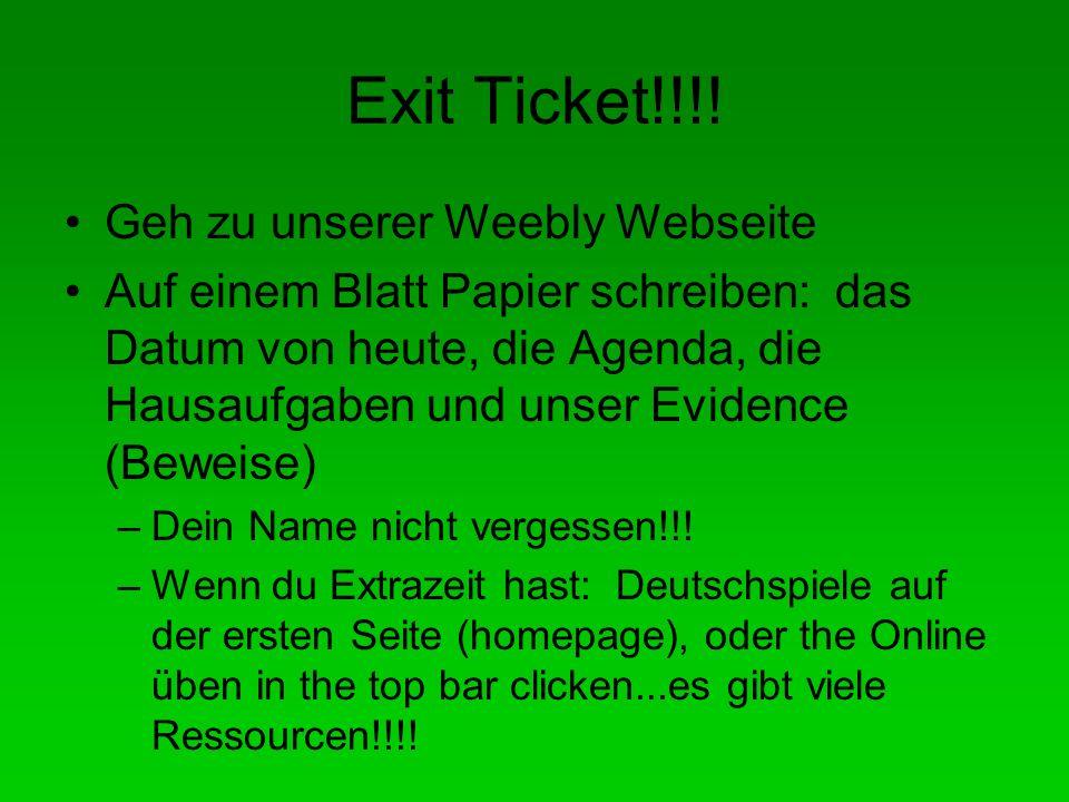 Exit Ticket!!!.