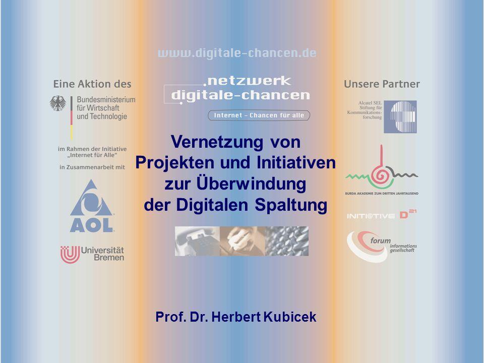 Vernetzung von Projekten und Initiativen zur Überwindung der Digitalen Spaltung Prof.