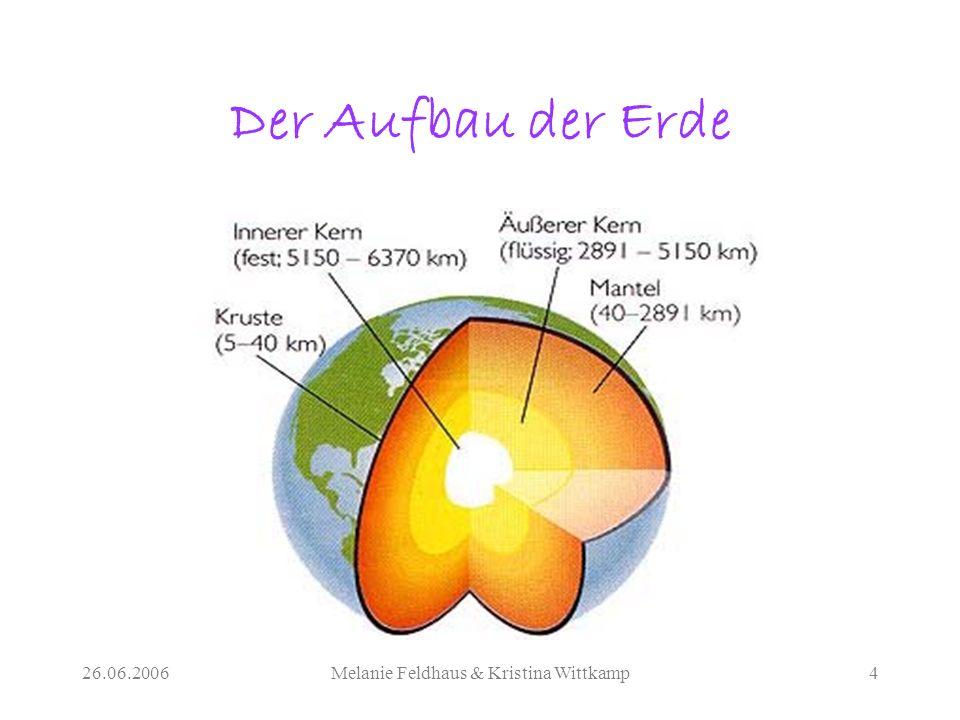 26.06.2006Melanie Feldhaus & Kristina Wittkamp4 Der Aufbau der Erde