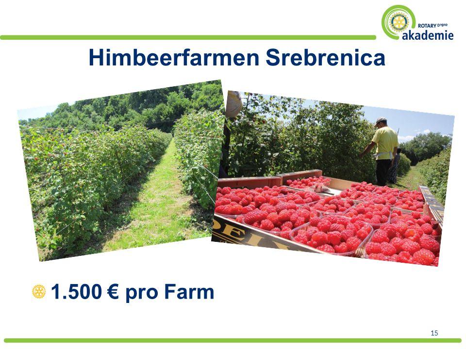 Himbeerfarmen Srebrenica 15 1.500 € pro Farm