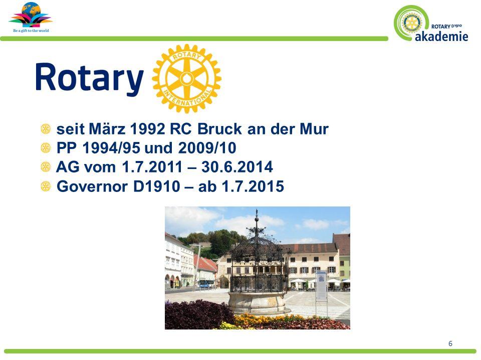 Text Selbstverständnis Rotary Clubs DG Distriktteam 7