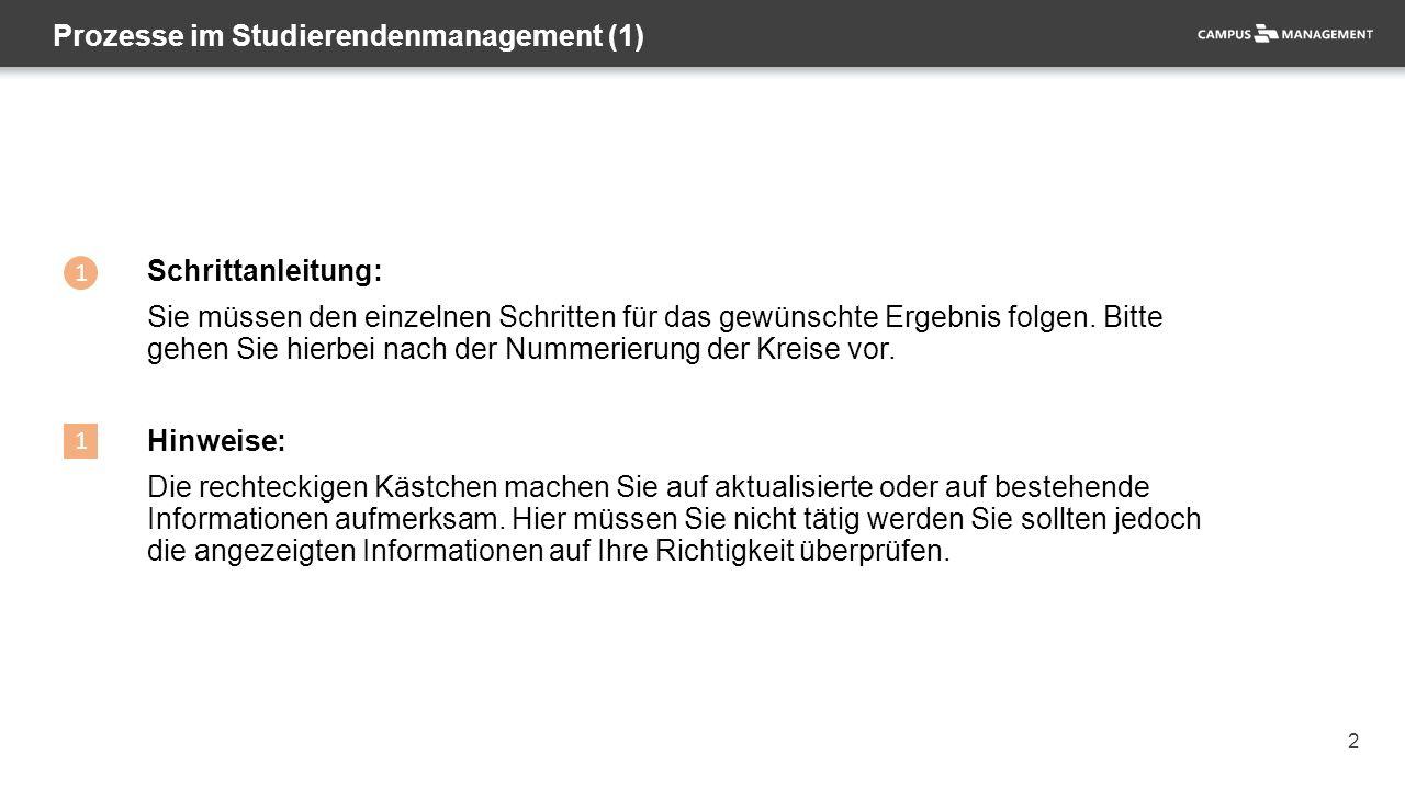 """43 Wechsel des Studiengangs – komplettes Studium (7) 2 1 Zu 1.: Das Studium erscheint nun als geschlossen (""""Z )."""