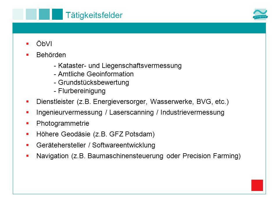  ÖbVI  Behörden - Kataster- und Liegenschaftsvermessung - Amtliche Geoinformation - Grundstücksbewertung - Flurbereinigung  Dienstleister (z.B. Ene