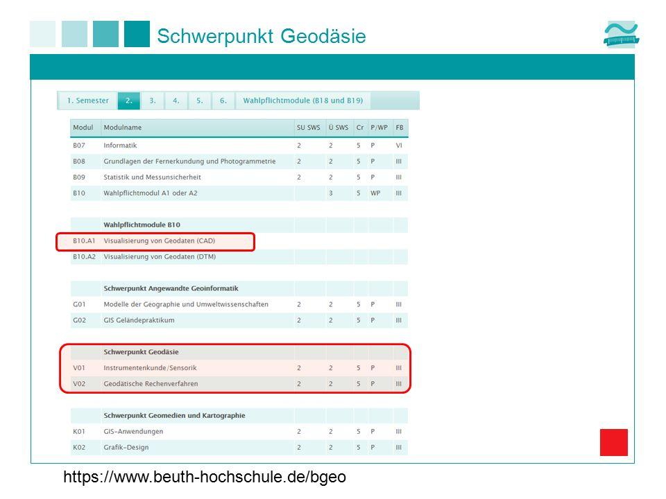 Schwerpunkt Geodäsie https://www.beuth-hochschule.de/bgeo