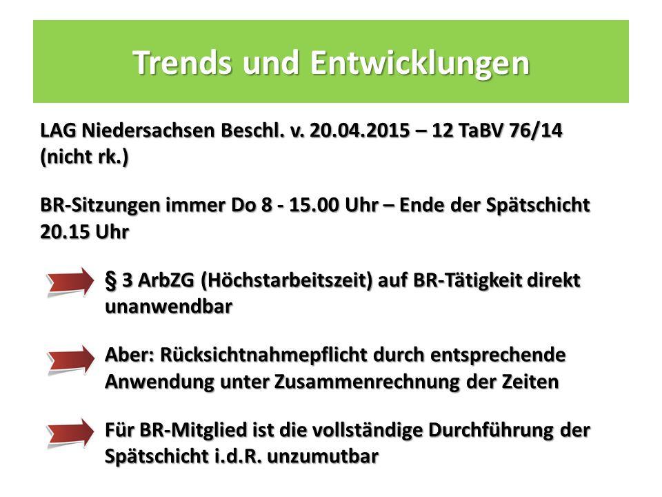 Trends und Entwicklungen LAG Niedersachsen Beschl.
