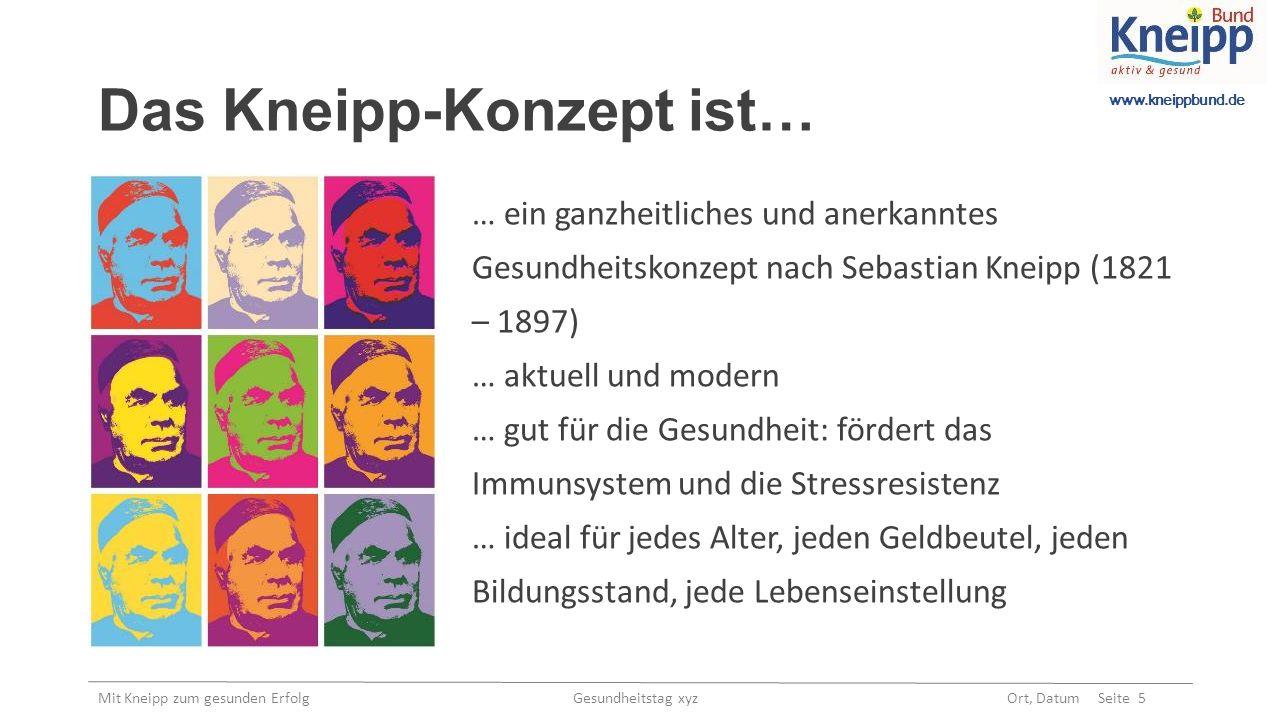 www.kneippbund.de Mit Kneipp zum gesunden Erfolg Gesundheitstag xyz Ort, Datum Seite 16 Kontakt Kneipp-Bund e.V.