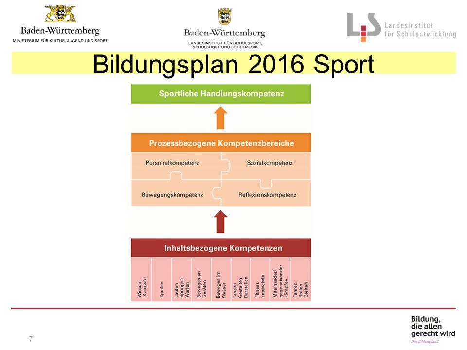7 Bildungsplan 2016 Sport