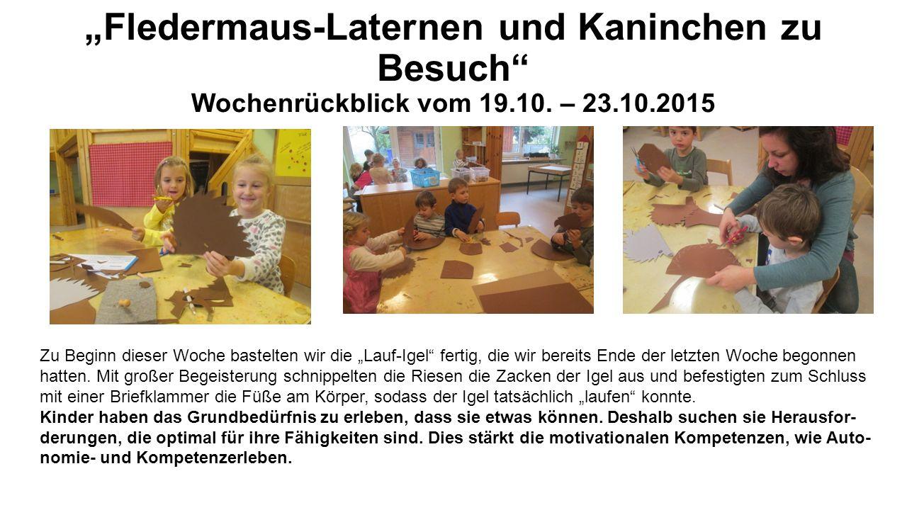 """""""Fledermaus-Laternen und Kaninchen zu Besuch Wochenrückblick vom 19.10."""