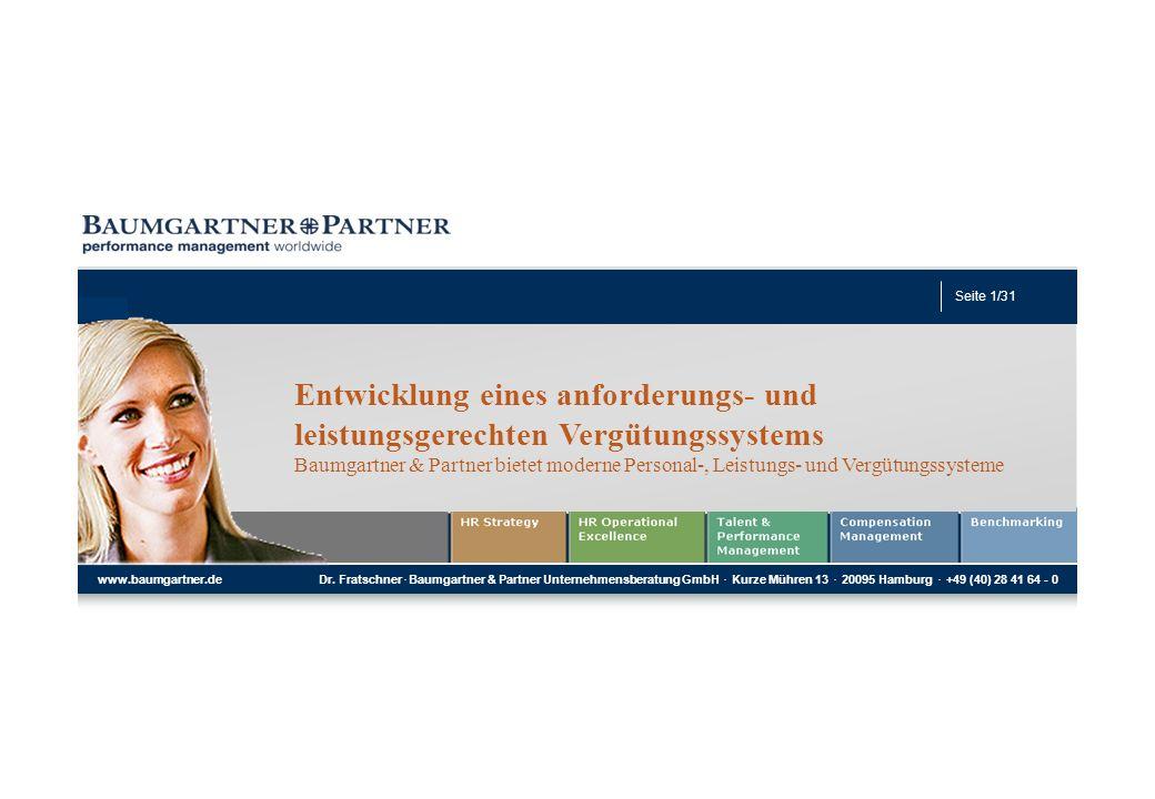 Seite 1 Dr. Friedrich Fratschner Geschäftsführender Partner Seite 1/35 www.baumgartner.de Dr. Fratschner. Baumgartner & Partner Unternehmensberatung G