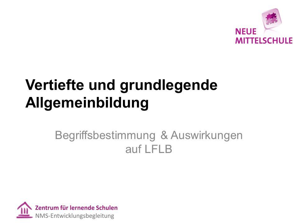 Vertiefte und grundlegende Allgemeinbildung in den 7.