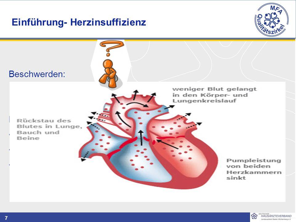 7 Beschwerden: Flüssigkeitsansammlung in Lungen, Beinen, Bauchraum kann z.