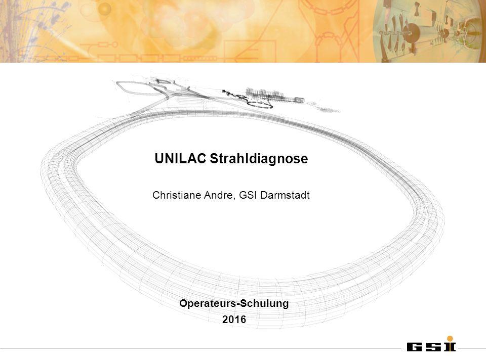 Christiane Andre UNILAC Strahldiagnose Folie 2 Um was geht's.
