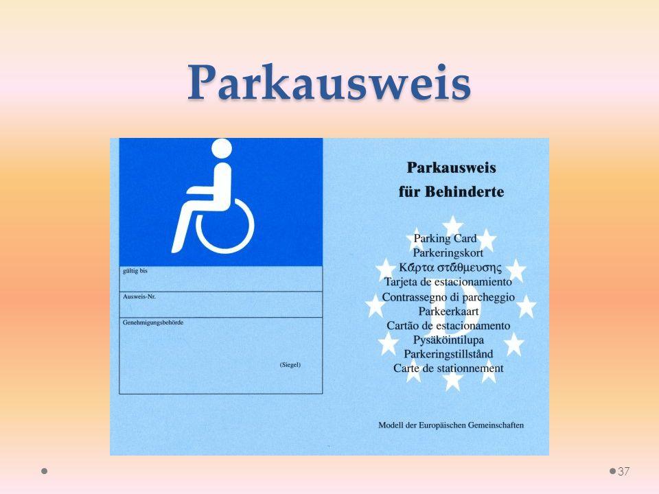 Parkausweis 37