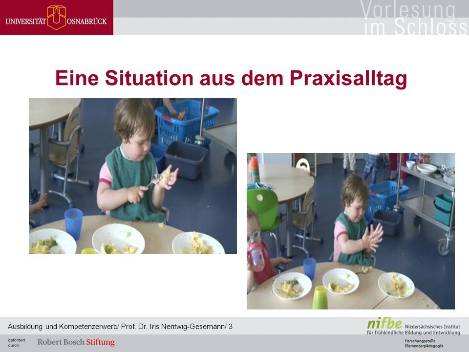 Eine Situation aus dem Praxisalltag Ausbildung und Kompetenzerwerb/ Prof. Dr. Iris Nentwig-Gesemann/ 3