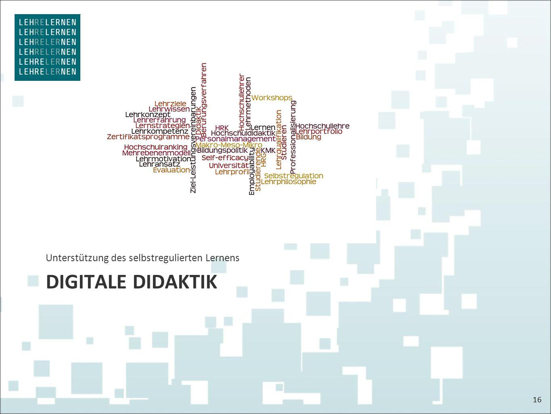 DIGITALE DIDAKTIK Unterstützung des selbstregulierten Lernens 16