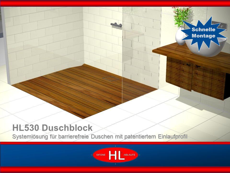 HL530 Duschblock Systemlösung für barrierefreie Duschen mit patentiertem Einlaufprofil Schnelle Montage