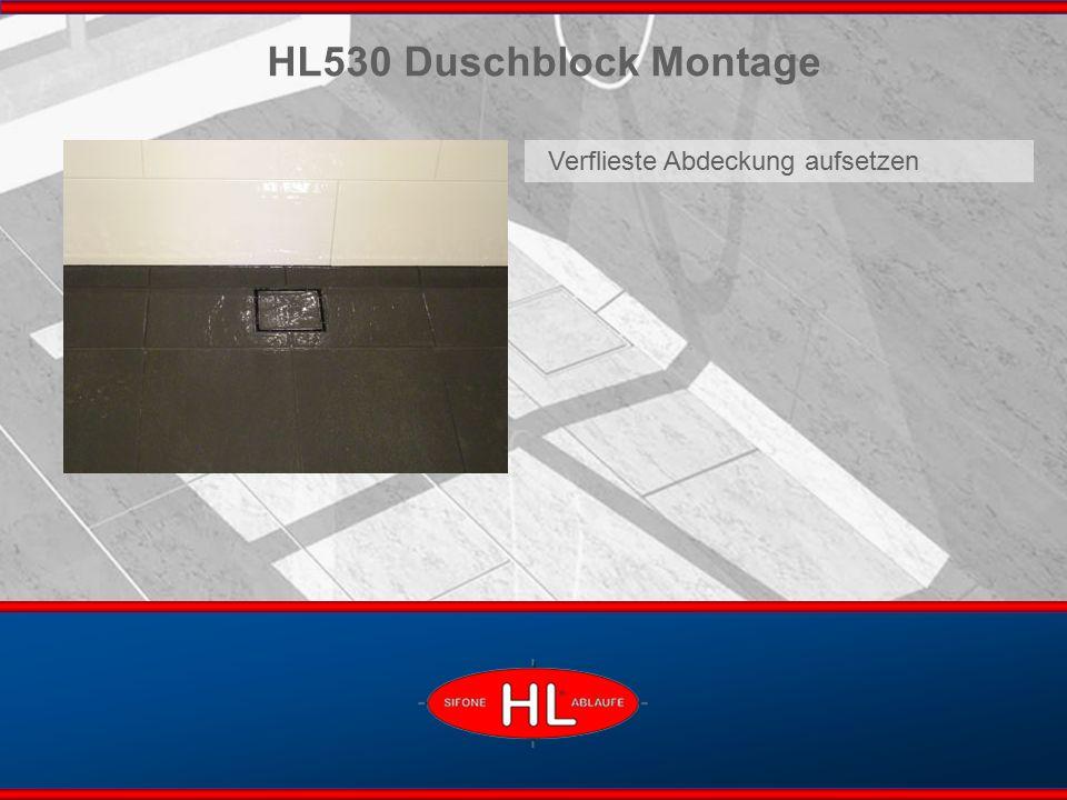 www.hutterer-lechner.com HL530 Duschblock Montage Verflieste Abdeckung aufsetzen