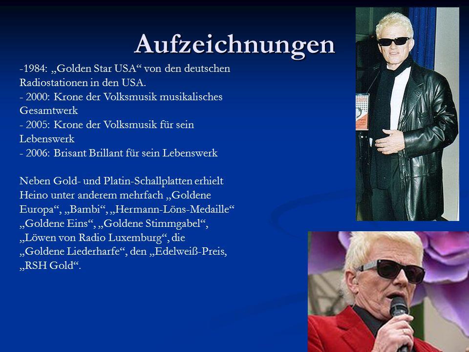 """Aufzeichnungen -1984: """"Golden Star USA von den deutschen Radiostationen in den USA."""