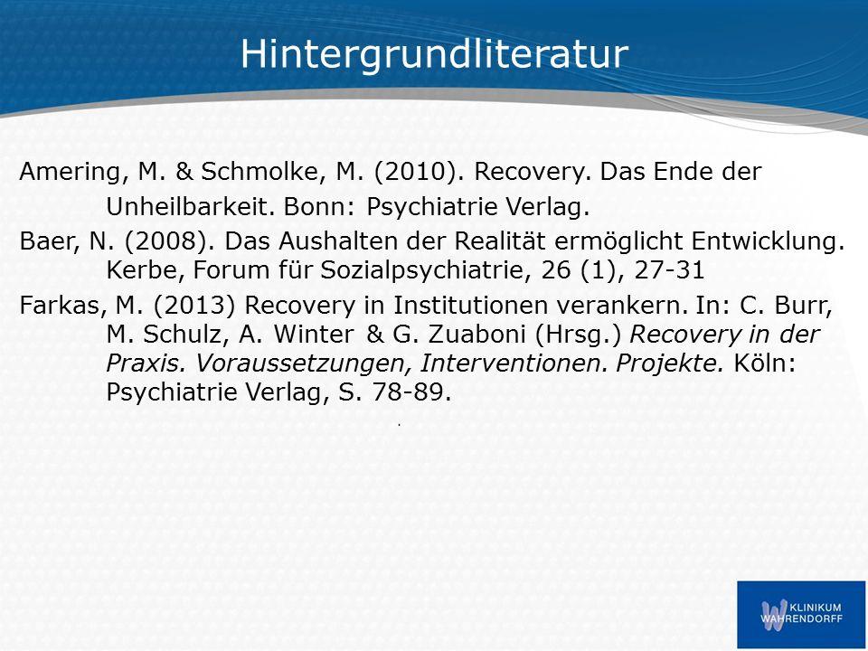 Hintergrundliteratur Amering, M. & Schmolke, M. (2010).