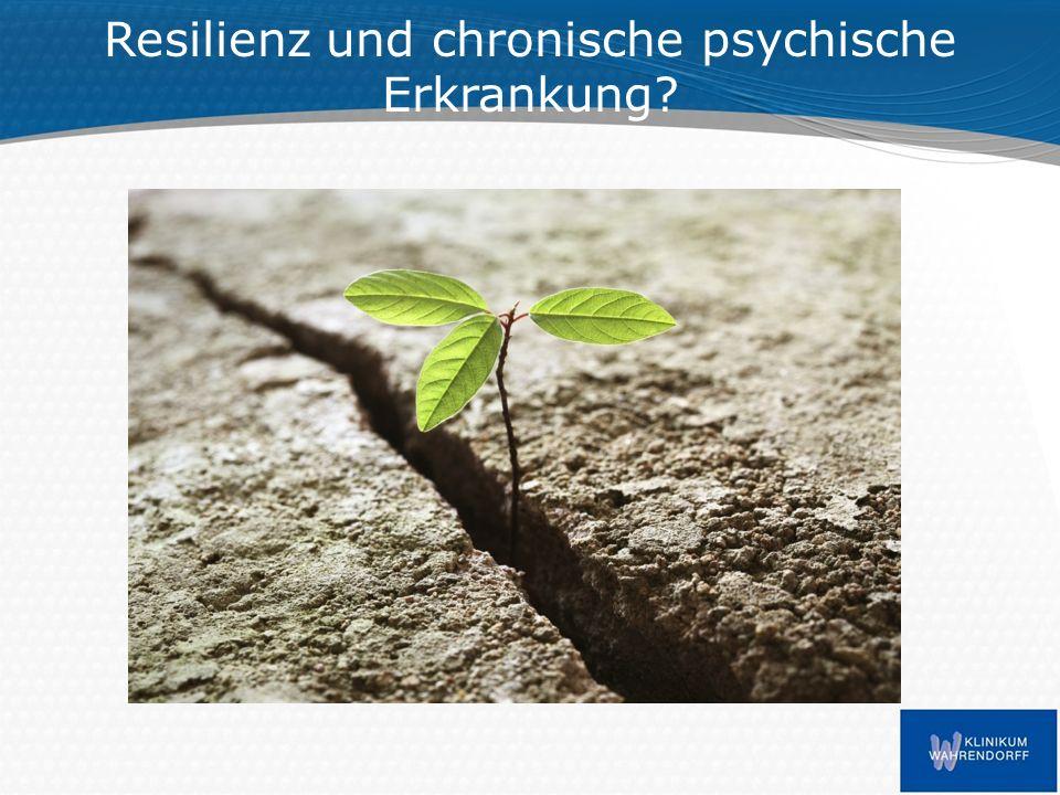 Was wir schon wissen: Ein Großteil der Menschen erholt sich selbst von schweren psychischen Erkrankungen (Farkas, 2013) – 50-66 % erreichen Verbesserungen in folgenden Bereichen: Verringerung der Symptome / Symptomschwere und des Medikamentenbedarfs Verbesserung ihrer sozialen Beziehungen und der Lebensqualität Selbst bei schwersten chronischen psychischen Erkrankungen finden sich eindrucksvolle Stabilisierungsprozesse: – Bsp.: Heimbereich des Klinikum Wahrendorff (2013)