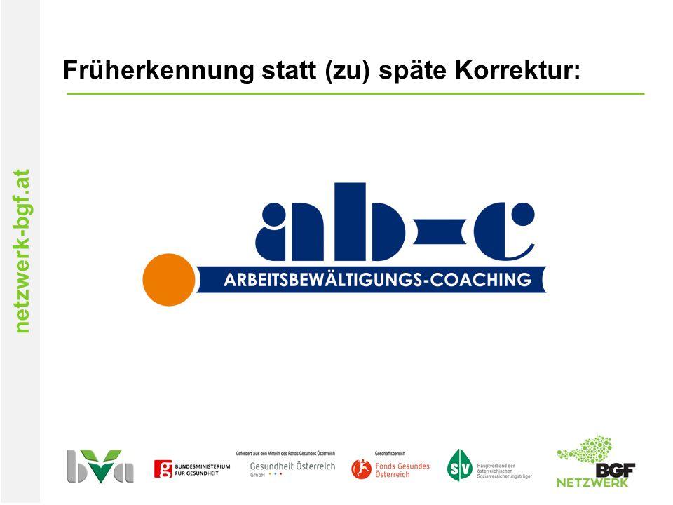 netzwerk-bgf.at Früherkennung statt (zu) späte Korrektur: