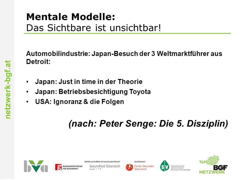 netzwerk-bgf.at Mentale Modelle: Das Sichtbare ist unsichtbar.