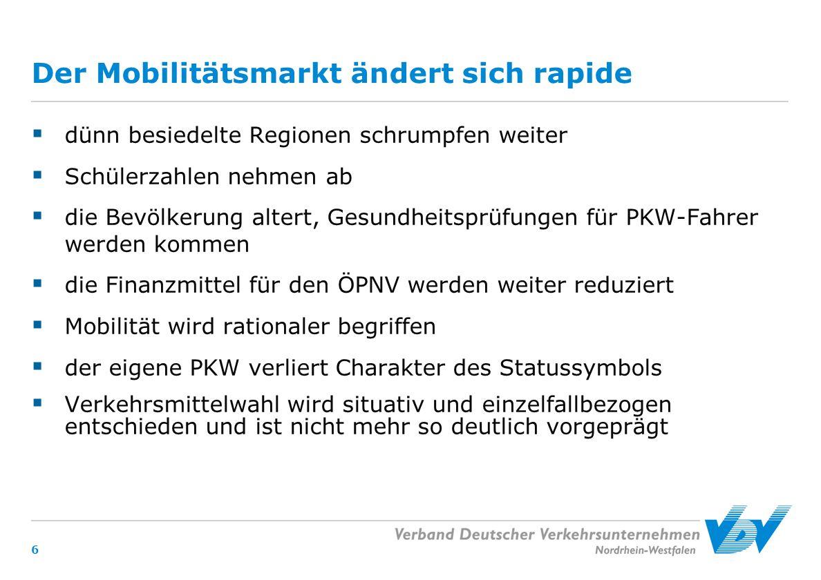 17 Besten Dank für Ihre Aufmerksamkeit Kontakt: Volker Wente Geschäftsführer Nordrhein - Westfalen Verband Deutscher Verkehrsunternehmen e.