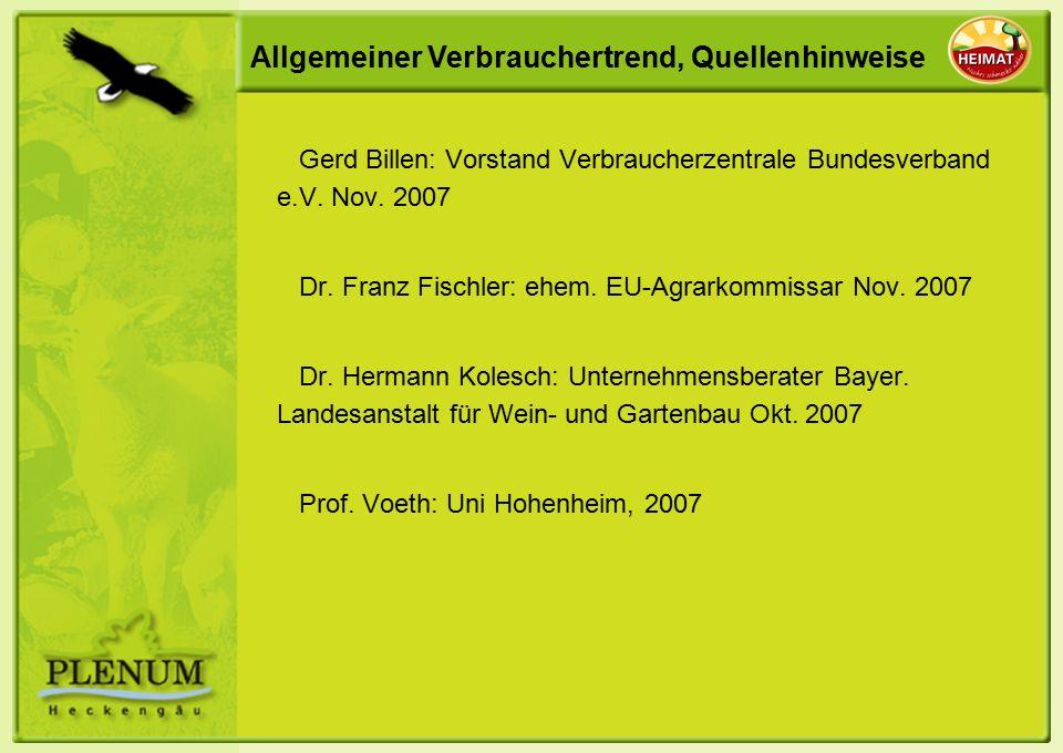 Allgemeiner Verbrauchertrend, Quellenhinweise Gerd Billen: Vorstand Verbraucherzentrale Bundesverband e.V.