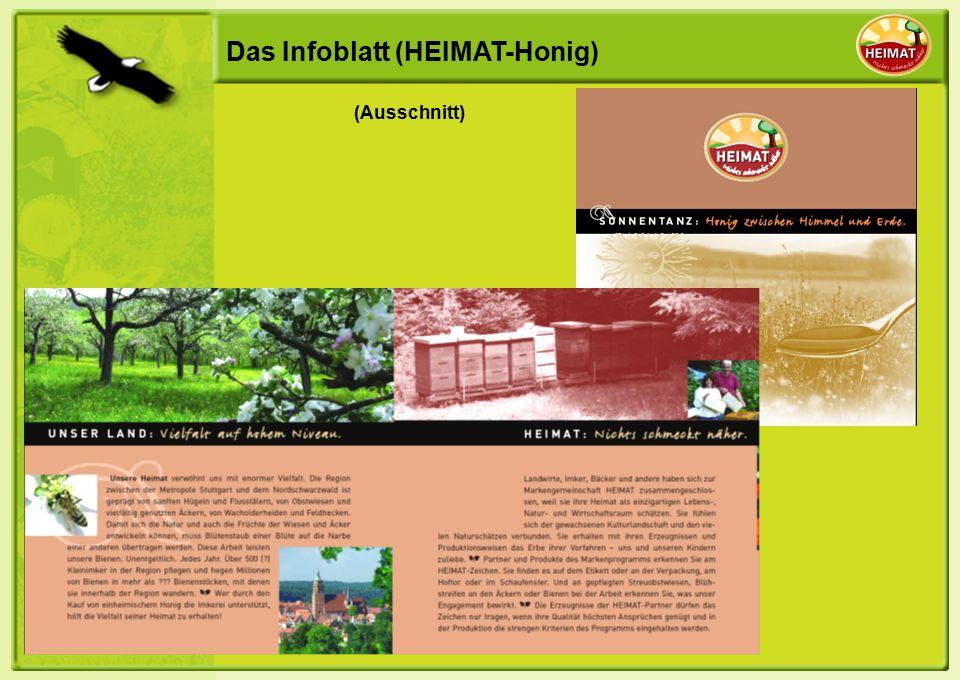 Das Infoblatt (HEIMAT-Honig) (Ausschnitt)