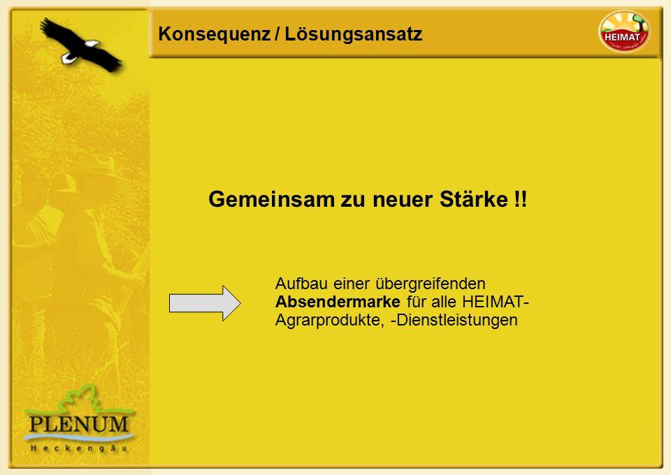 Konsequenz / Lösungsansatz Gemeinsam zu neuer Stärke !.