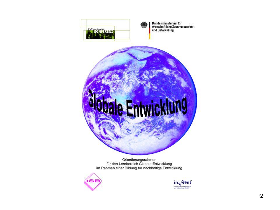 3 Das Bildungsangebot orientiert sich am Leitbild der nachhaltigen Entwicklung – d.h., es bemüht sich um eine Vernetzung der Zieldimensionen - soziale Gerechtigkeit - wirtschaftliche Leistungsfähigkeit - ökologische Verträglichkeit - demokratische Politikgestaltung vor dem Hintergrund der kulturellen Vielfalt im lokalen, nationalen und globalen Kontext.
