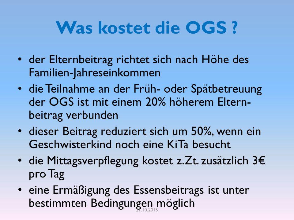 Was kostet die OGS .