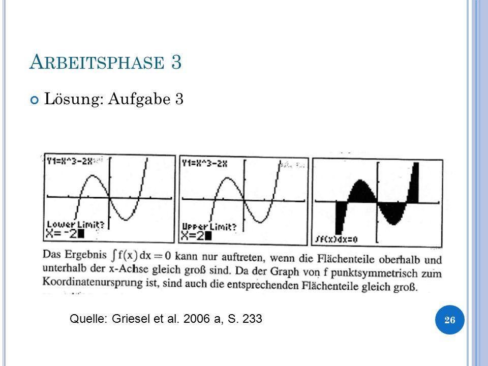 A RBEITSPHASE 3 Lösung: Aufgabe 3 26 Quelle: Griesel et al. 2006 a, S. 233
