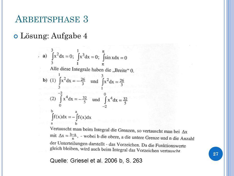 A RBEITSPHASE 3 Lösung: Aufgabe 4 27 Quelle: Griesel et al. 2006 b, S. 263