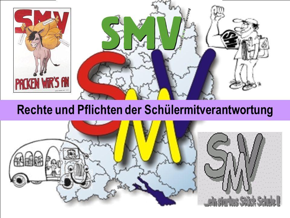 Erfolgreiche SMV-Arbeit … beeinflusst das Schulklima nachhaltig positiv, stabilisiert den psychosozialen Rahmen der Schule, trägt zu Rechtssicherheit bei und führt zu demokratischem Handeln.