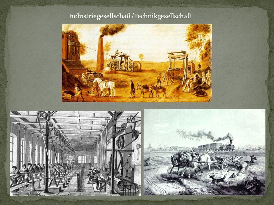 allgemeine Bezeichnung für Gesellschaften mit hohem Anteil fabrikmäßiger Produktion.