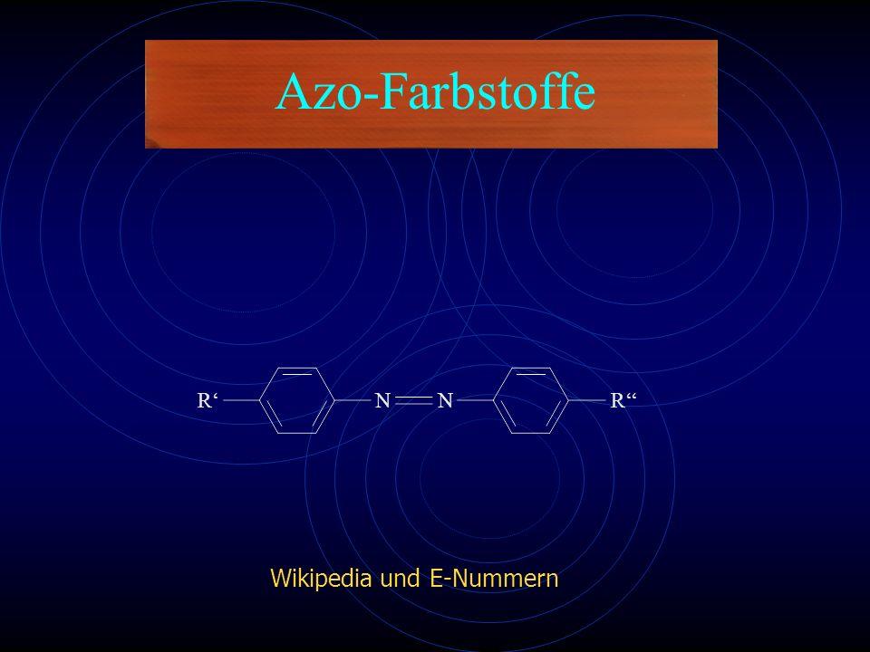 Azo-Farbstoffe NNR''R' E-NummernWikipedia und