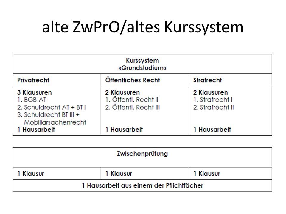 alte ZwPrO/altes Kurssystem