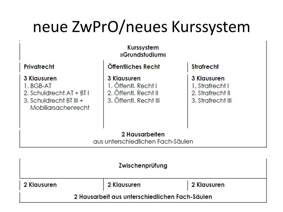 neue ZwPrO/neues Kurssystem