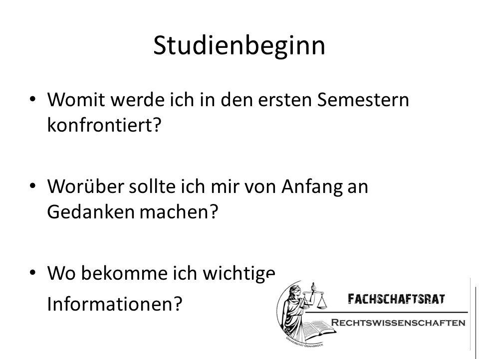 Studienbeginn Wichtig: Unterschiedliche Zwischenprüfungsordnungen/Kurssysteme für das 2.