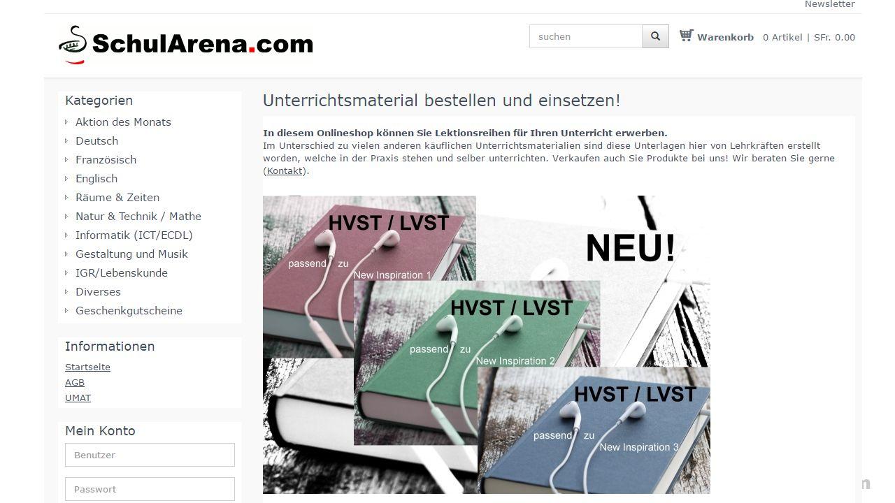 SchulArena.com SchulArena-Shop, wie funktioniert der? «Möglichkeit, eigene Produkte zu verkaufen.» «Teils sehr aufwändige Eigenproduktionen von SchulA