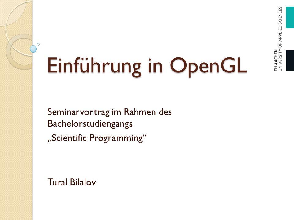 Inhalt Was ist OpenGL.