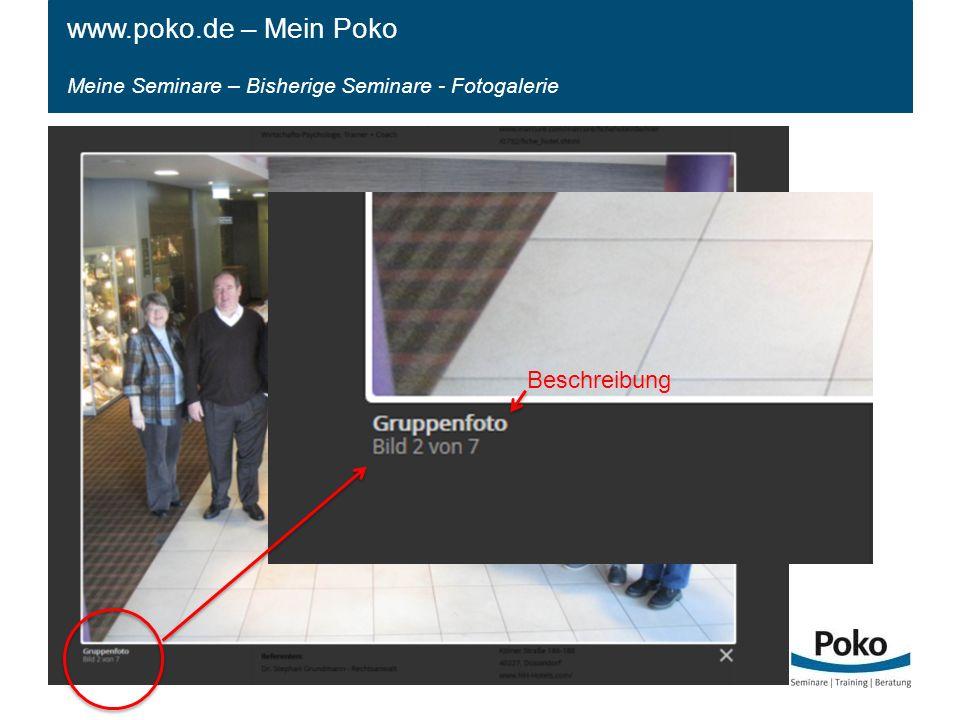Meine Seminare – Bisherige Seminare - Fotogalerie www.poko.de – Mein Poko Beschreibung