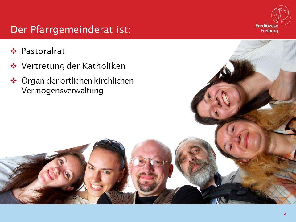 9  Pastoralrat  Vertretung der Katholiken  Organ der örtlichen kirchlichen Vermögensverwaltung Der Pfarrgemeinderat ist: