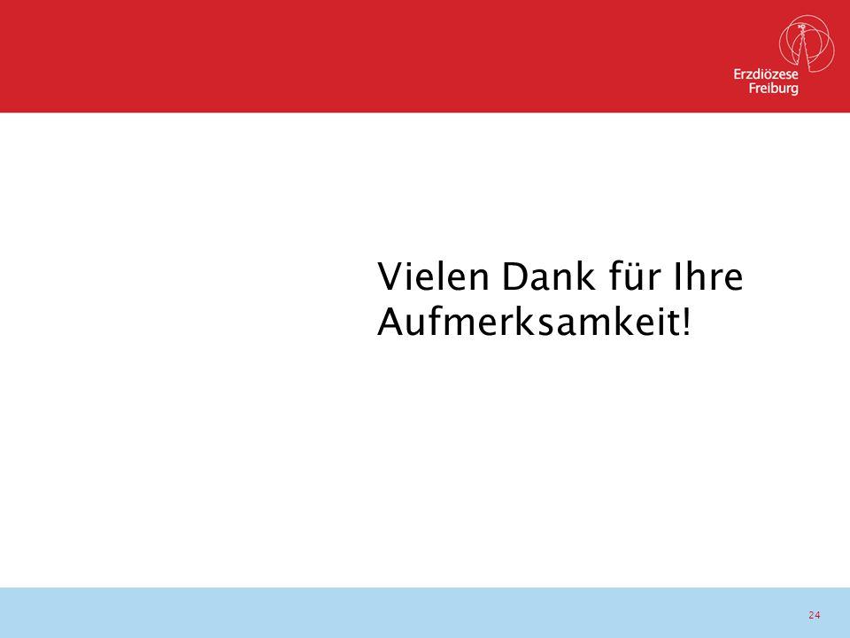24 www.erzbistum-freiburg.de Vielen Dank für Ihre Aufmerksamkeit!