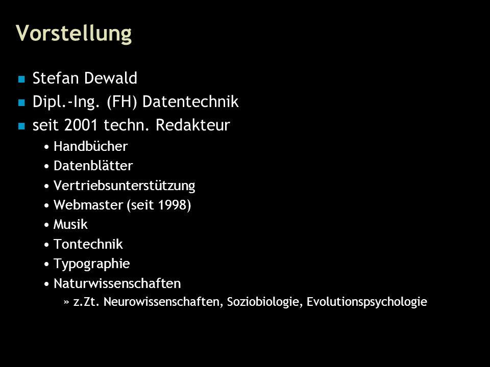 3 Vorstellung Stefan Dewald Dipl.-Ing. (FH) Datentechnik seit 2001 techn.