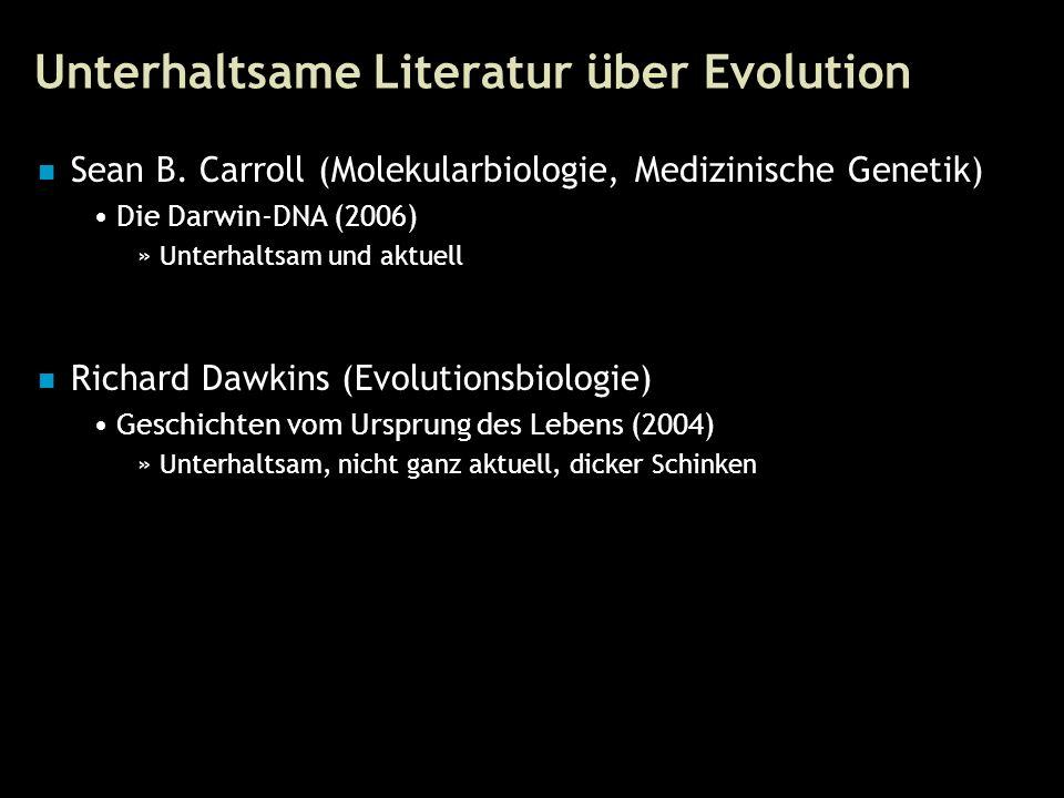 65 Unterhaltsame Literatur über Evolution Sean B.